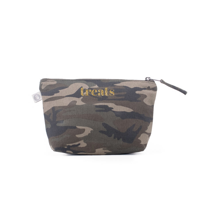 Dog TREATS Makeup Bag: Green Camo