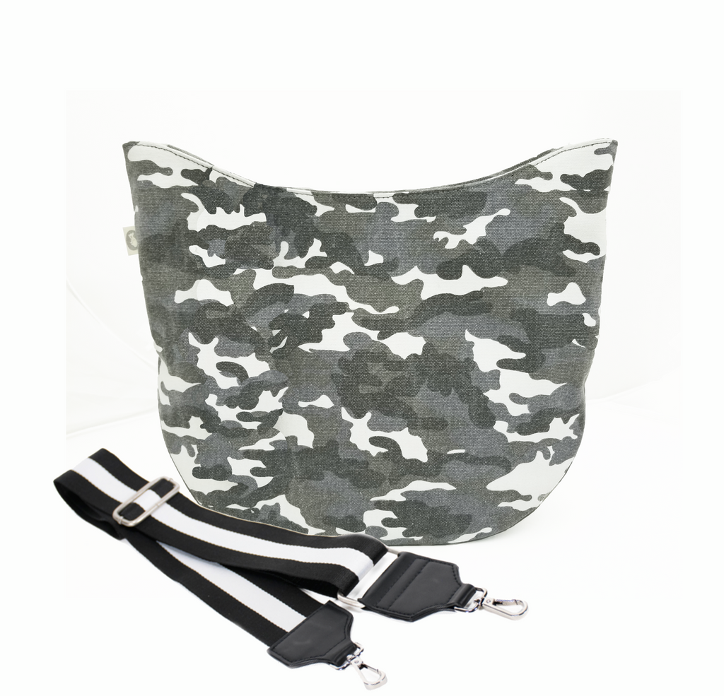 Color Stripes: City Bag Grey Camo with Stripe Strap