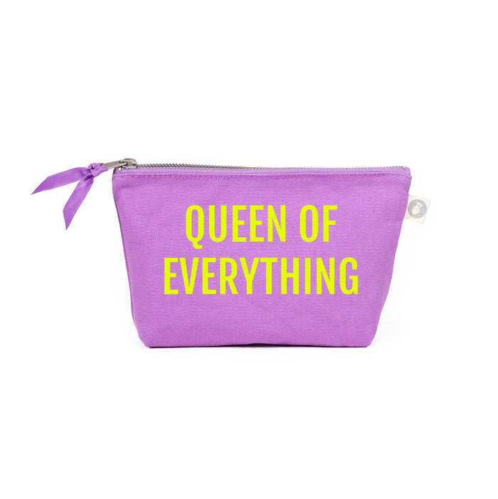Queen of Everything Makeup Bag: Lavender