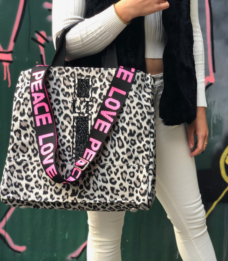Mini Monogram Leopard North South Bag