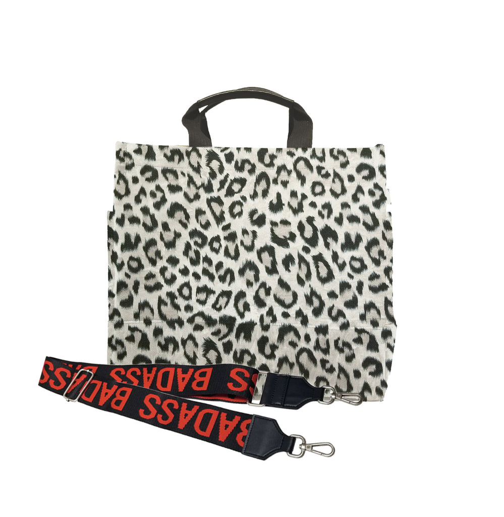Color Stripes: Leopard North South Bag