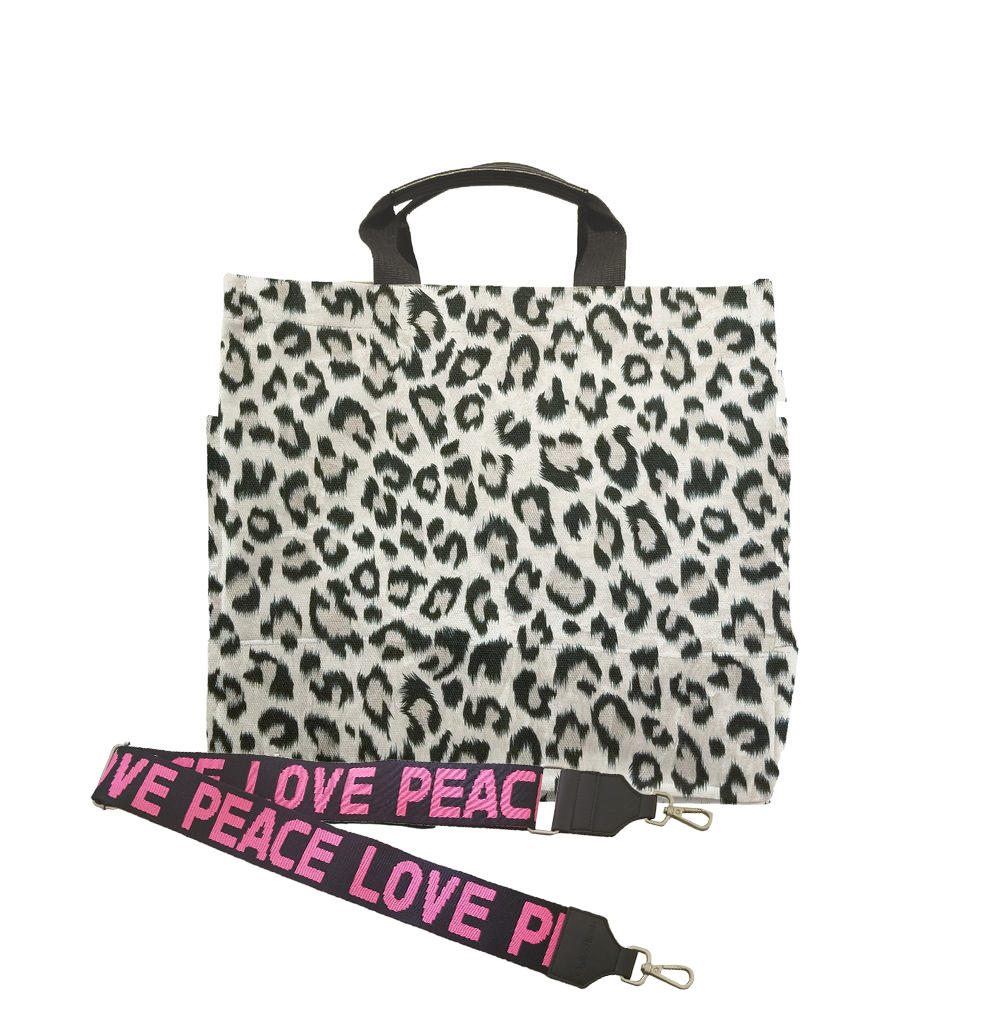 Luxe North South Bag: Leopard