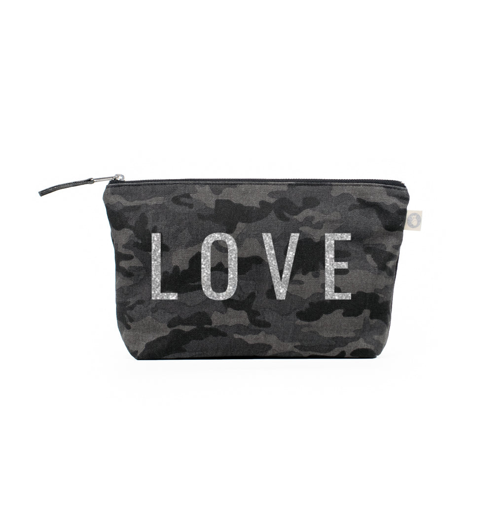 Black Camouflage Clutch with LOVE