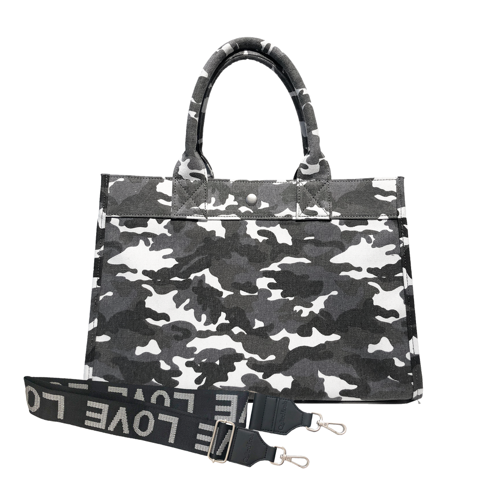 Mini Monogram Midi East West Bag: Grey Camouflage