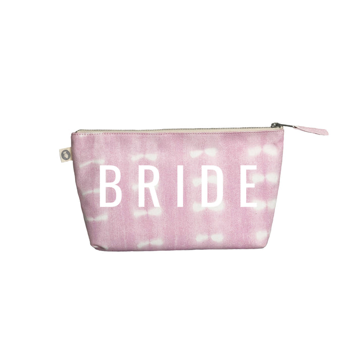 Clutch Bag: Pink Shibori with White Matte BRIDE
