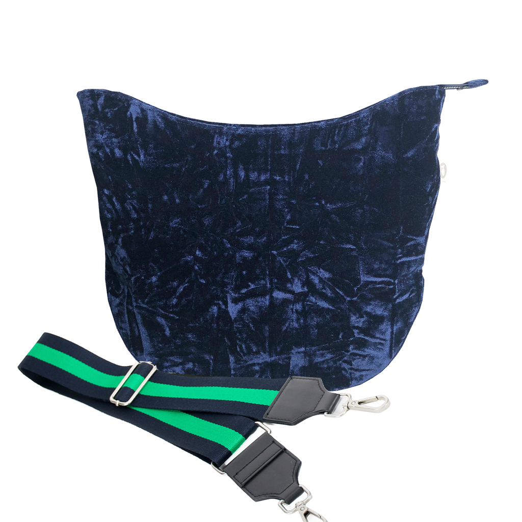 City Bag Basics: Midnight Blue Crushed Velvet