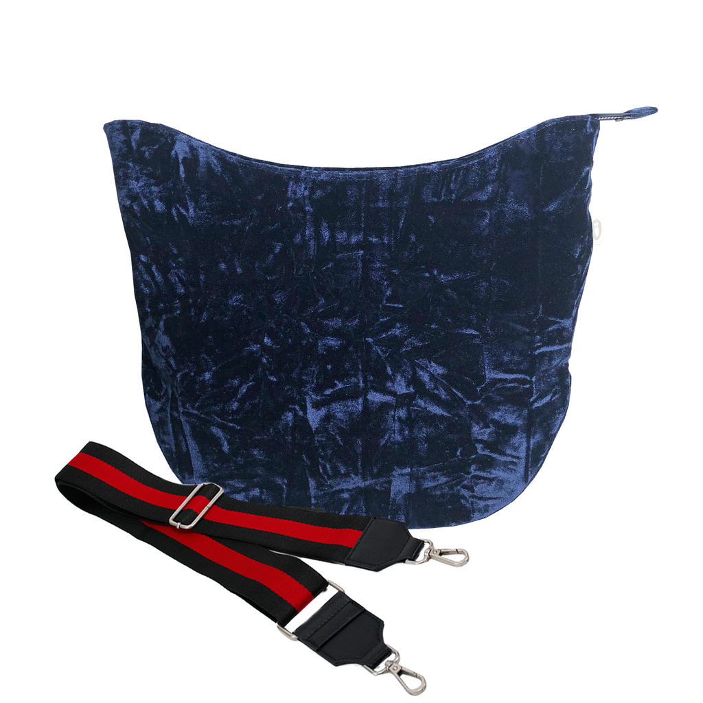 City Bag Midnight Blue Crushed Velvet