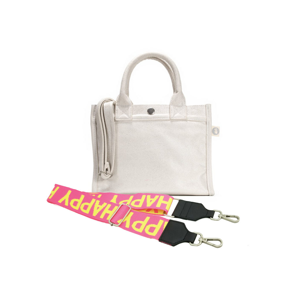 Mini East-West Bag: White Metallic with FREE Luxe Strap (Only $67 with code: AUGUST)