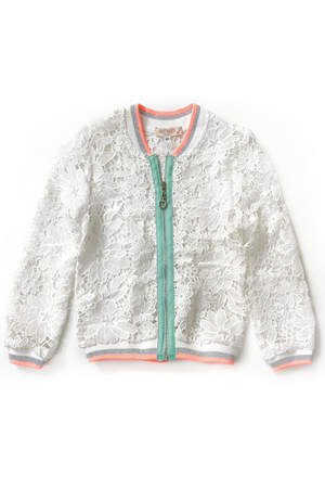 Airy Lace Bomber Jacket