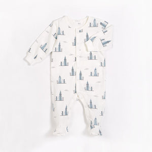 Empire State Footie & Swaddle