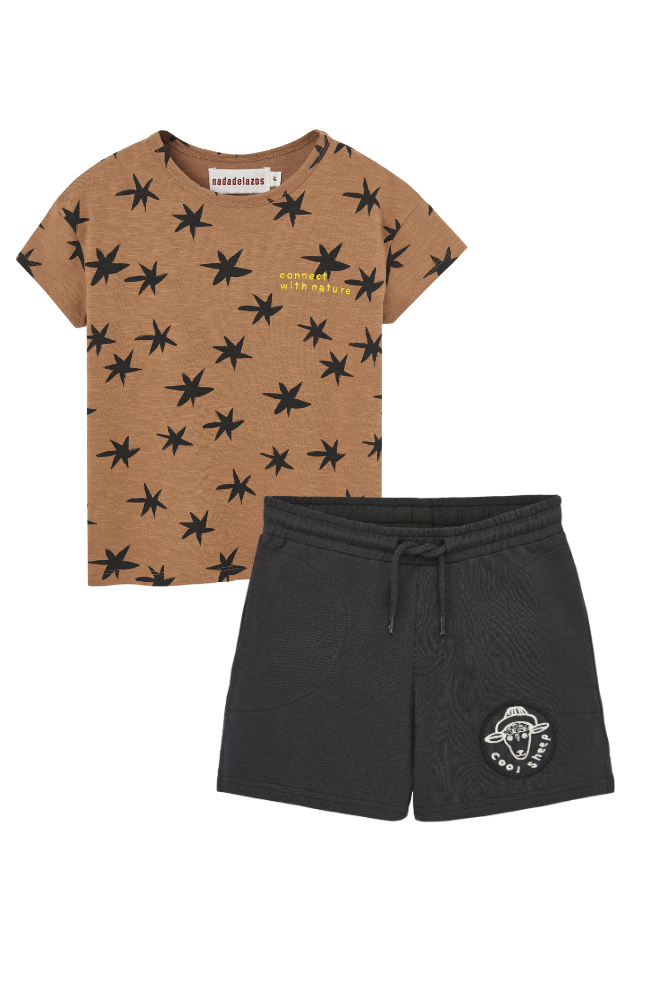 Stars Tee & Cool Sheep Shorts