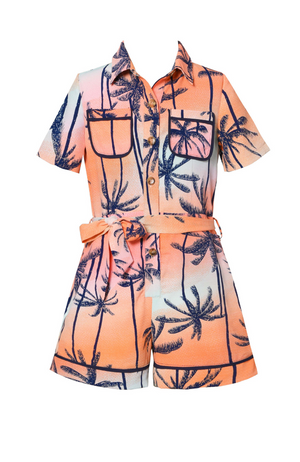 Sunset Palm Tree Romper