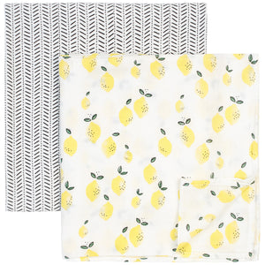 Lemon Swaddle Blanket Set