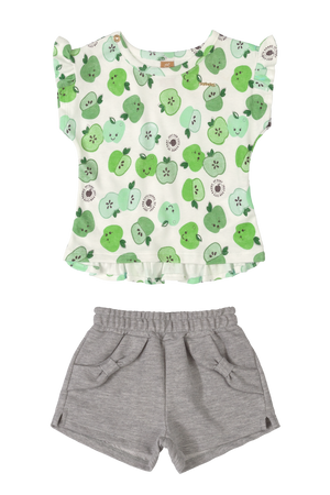 Apples Blouse & Shorts