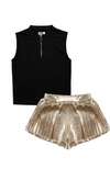 O-ring Tank & Metallic Skort