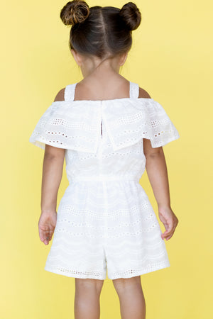 Daisy Off the Shoulder Eyelet Romper