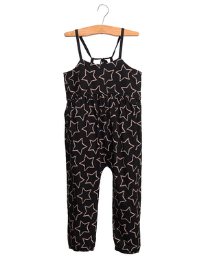 Black Star Print Jumpsuit
