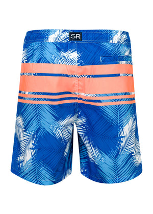 Tropical Neon Stripe Men's Boardie