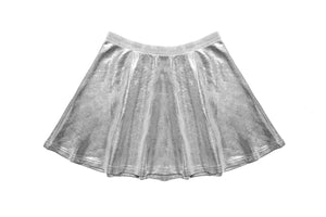 Sueded Ruffle Top & Skirt