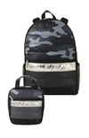 Camo Puffer Backpack & Lunch Tote