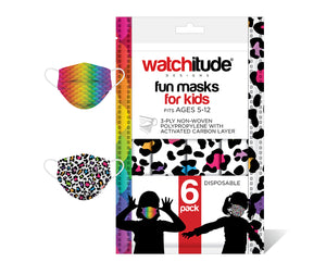 Leopard Camo & Rainbow Skin Mask Set