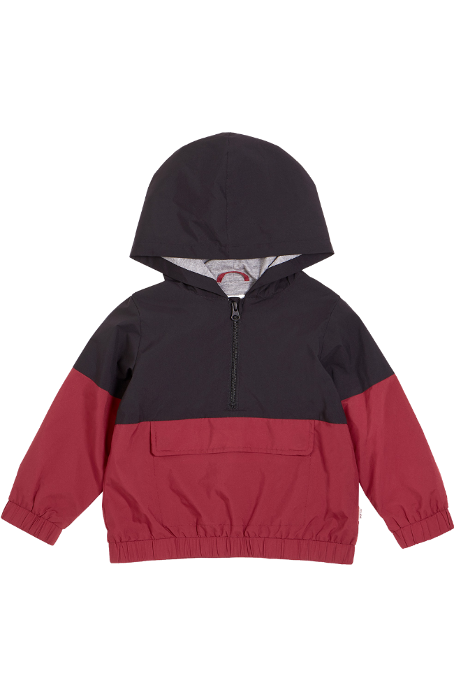 Color Block Hooded Windbreaker