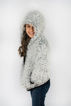 Cozy Hooded Fur Sweater