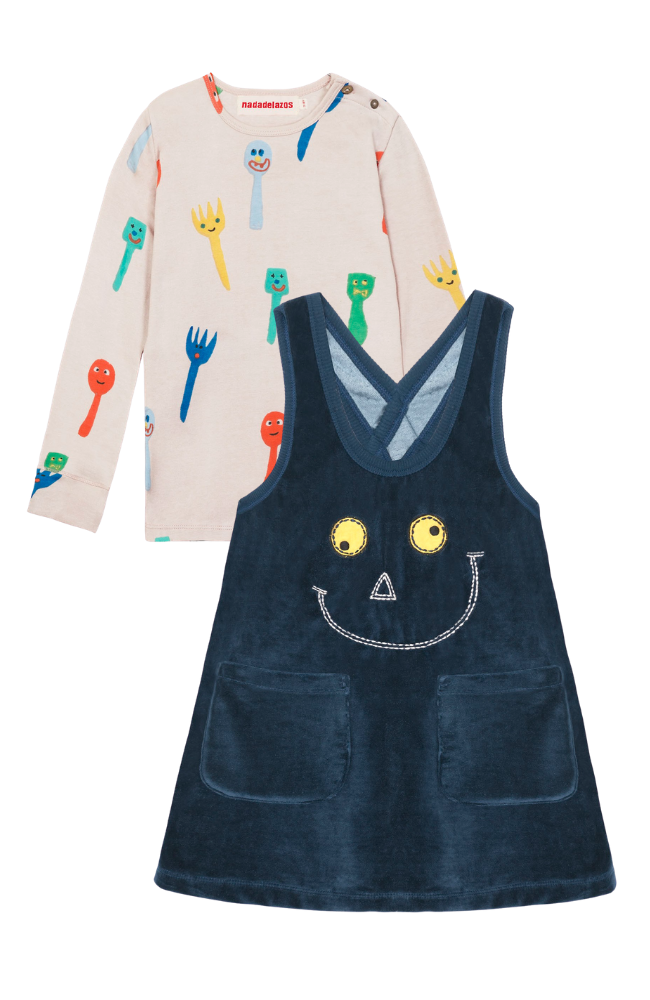 Forks & Spoons Tee & Smiley Dress