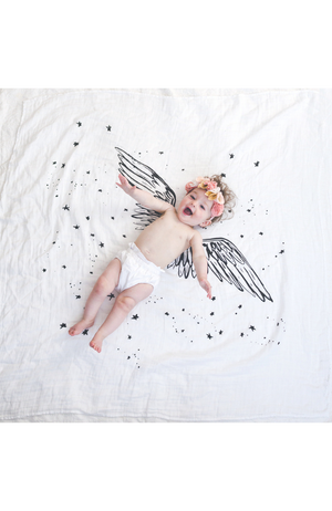 Wings Organic Cotton Swaddle