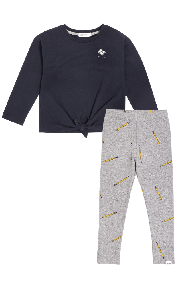 Stay Sharp Knot Tee & School Pencils Leggings