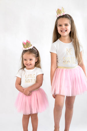 Gold Blush Crown Tutu Set