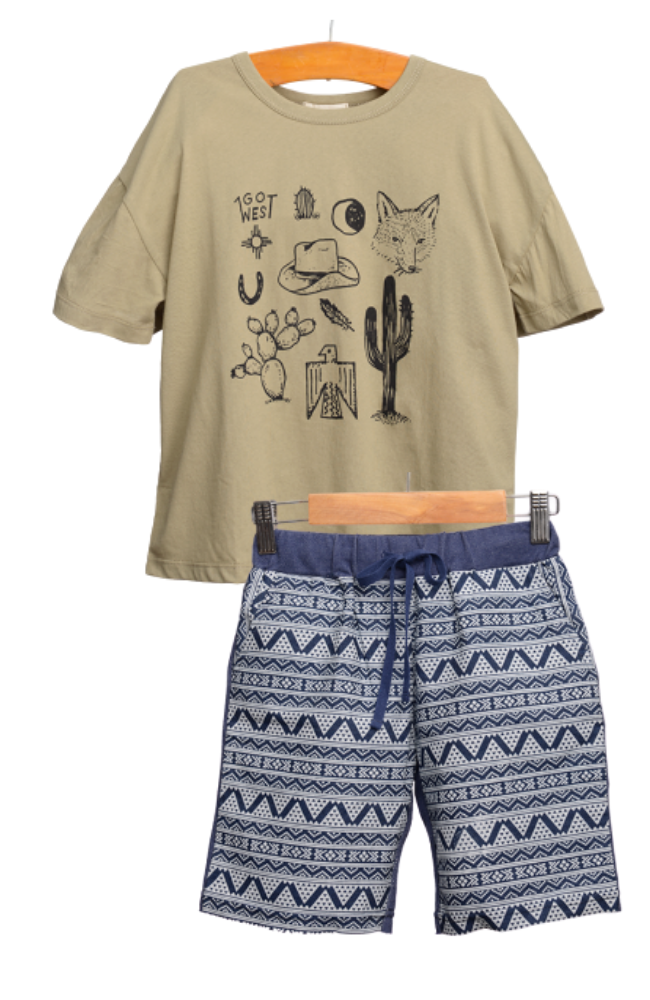 Go West Tee & Sweat Shorts