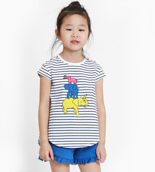 Mini Elephant Jungle Tee & Jayden Pink Shorts