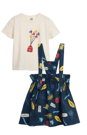 Migration Tee & Nature Skirt with Straps