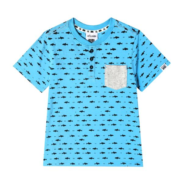 Mini Riley Henley Shark Tee