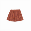 Sunset Tee & Ruffled Overlayer Mini Skirt