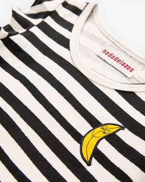 Stripe Ruffle Tee & Banana Skirt
