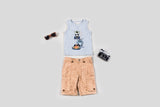 Safari Pals Tank & Printed Cargo Shorts