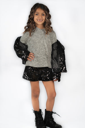 Sequin Hoody & Disco Shorts