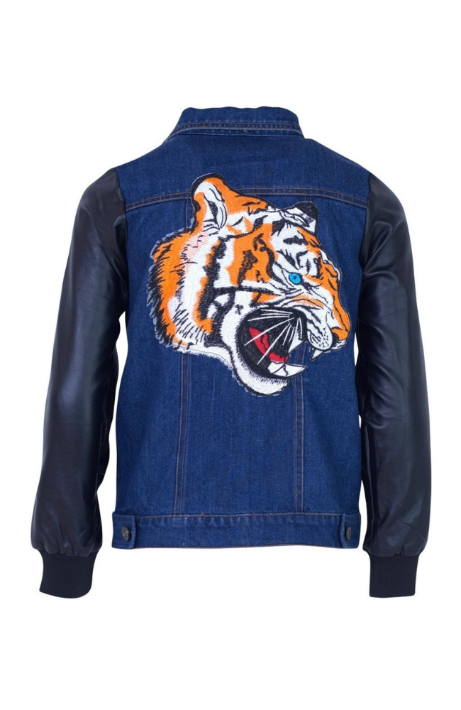 Tiger Vegan Leather Jacket