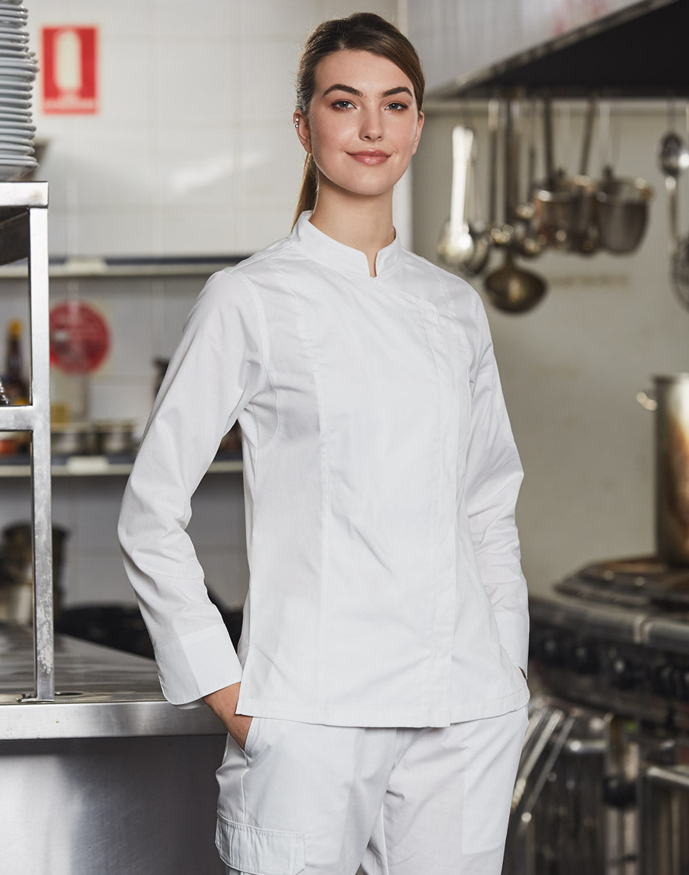 [CJ04] Ladies' Functinal Chef Jacket
