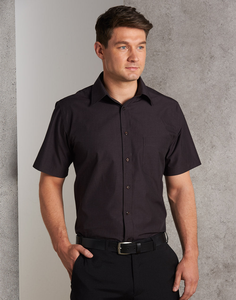 [M7001] Men's Nano Tech Short Sleeve Shirt