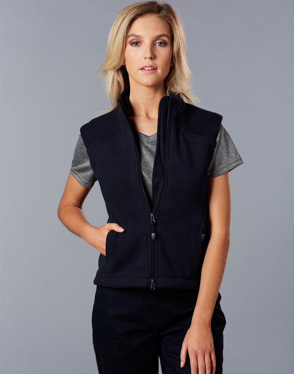 [PF10] Ladies' Bonded Polar Fleece Vest