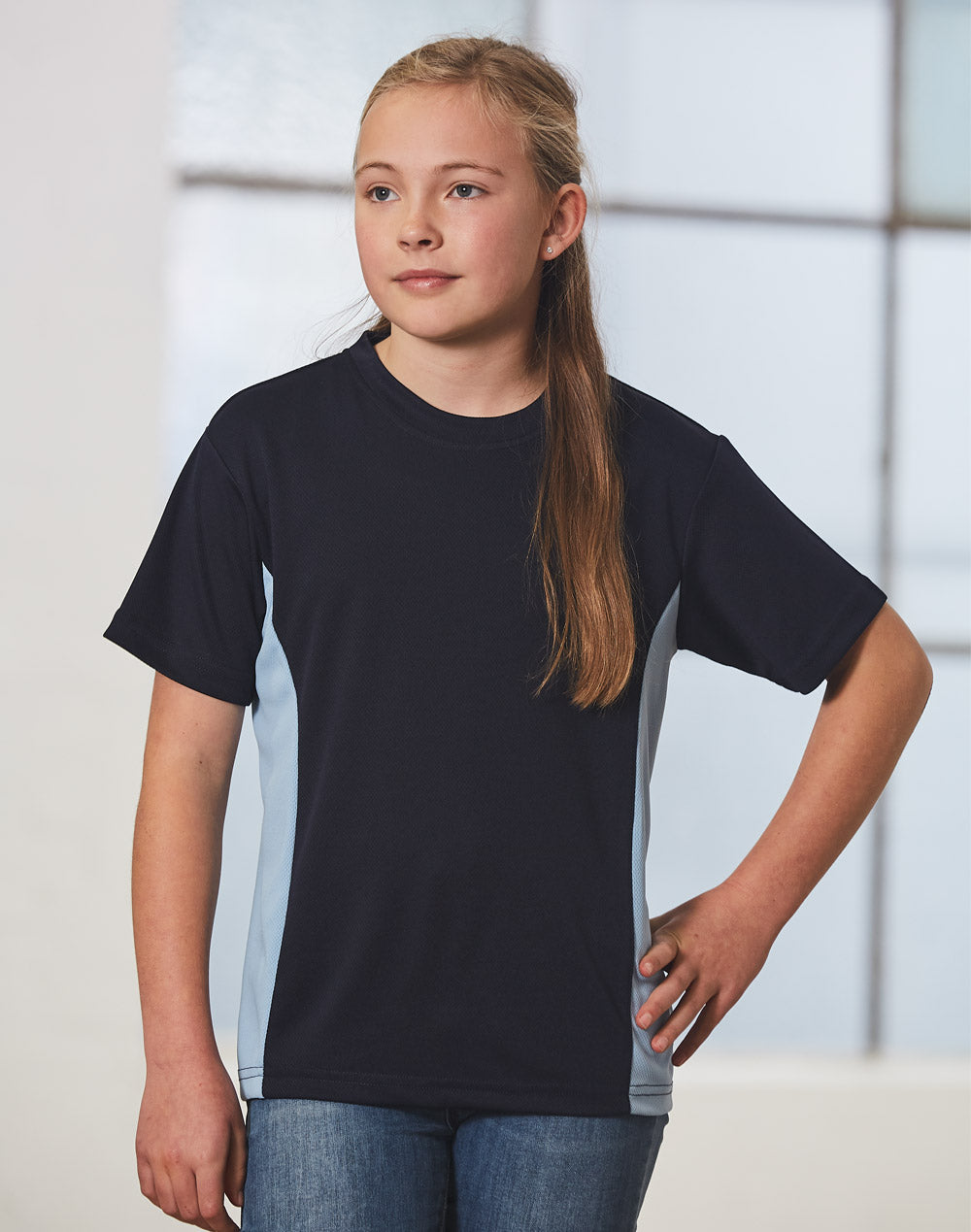 [TS12K] kids cooldry S/S contrast tee