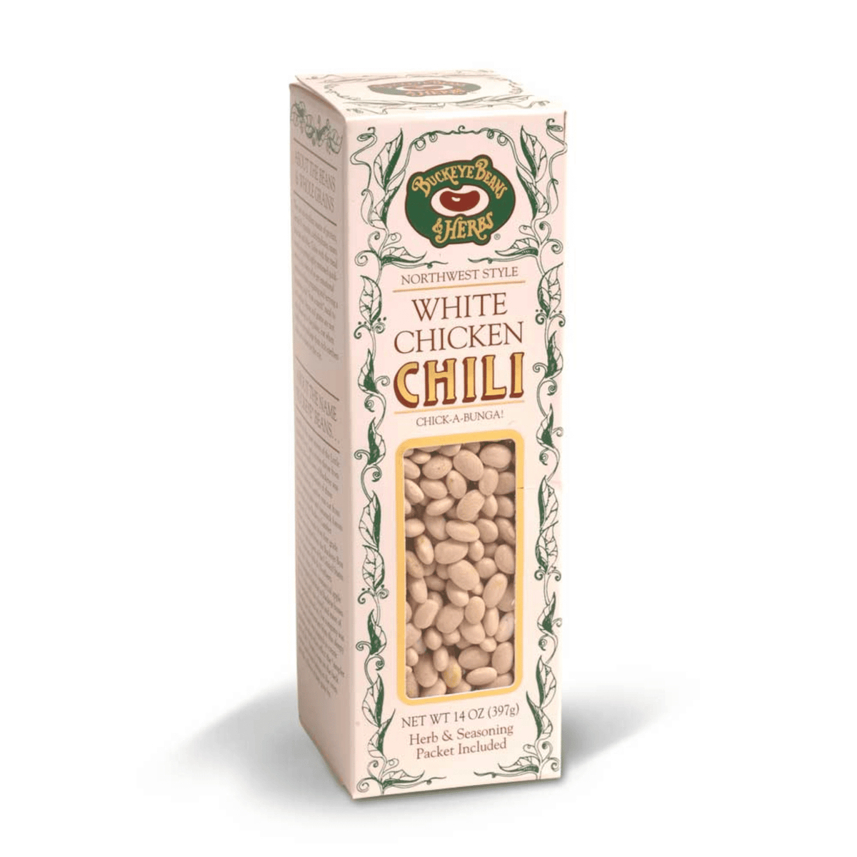 Buckeye Beans and Herbs Northwest Style White Chicken Chili 14-Ounce Box with Herb & Seasoning Packet Included