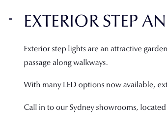 Exterior Step and Path Lights