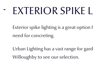 Exterior Spike Lights