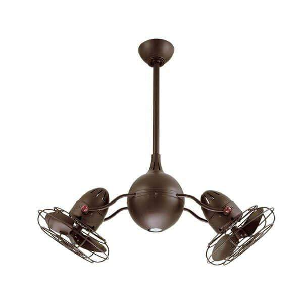 Indoor Fans Acqua Ceiling Fan - Textured Bronze/Metal Blades Lighting Stores