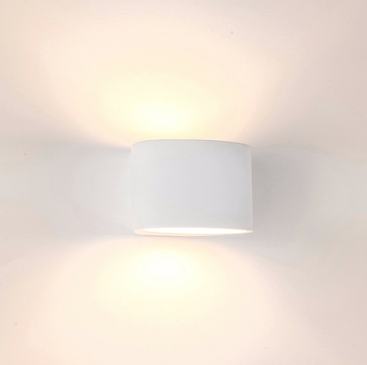 Interior Wall Light / Sconce Arc LED Plaster Wall Light