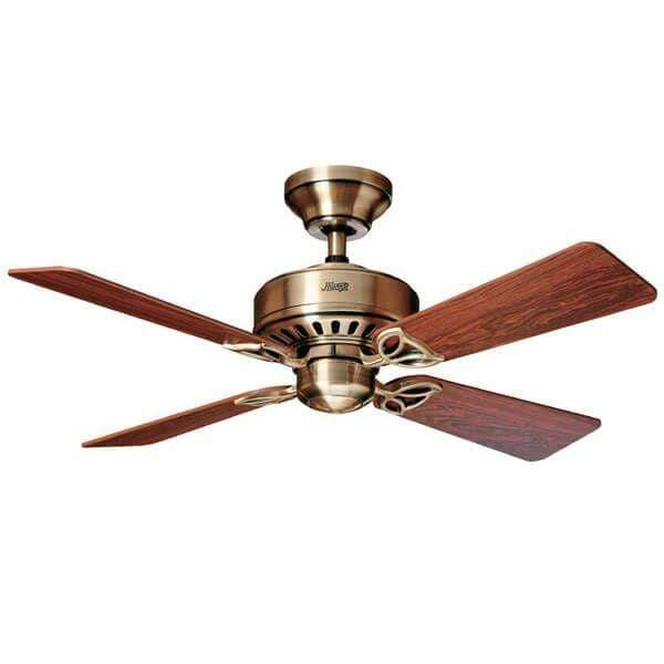 Indoor Fans Bayport Ceiling Fan - Antique Brass & Rosewood Lighting Stores